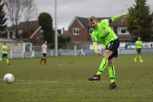 Hemel Town skipper and recently-crowned club record scorer Jordan Parkes netted the winner against Eastbourne on Saturday. (File picture by Marc Keinch).