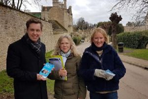 Annabel de Cappel Brooke (pictured right) has been supported by Corby MP Tom Pursglove(left) on the campaign trail.