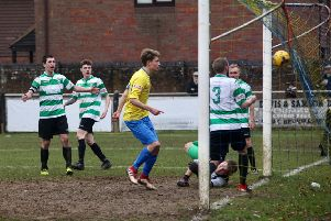 Jonathan Lacey scored Berko's lone goal against Bedford Town on Saturday. (File picture by Ray Canham)