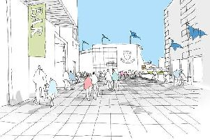 An architects sketch of a redeveloped main entrance at the 1st Central County Ground / Picture courtesy of ECE Architecture