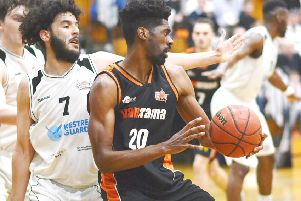 Storm's TrayVonn Wright earned NBL Player of the Week honours after his high-scoring exertions over the weekend. (Picture by Lin Titmuss).