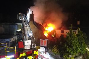 Fire at Walnut Tree Cottage in October, 2016