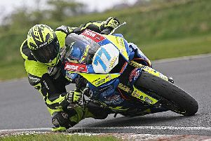 Tom Weeden on the Burrows Engineering/RK Racing Yamaha R6 during a recent test at Kirkistown. Picture: Baylon McCaughey.