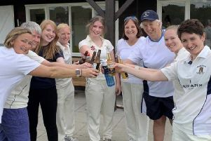 The Berkhamsted women's XI, who now top the Home Counties Women's Cricket League Super 8 group.
