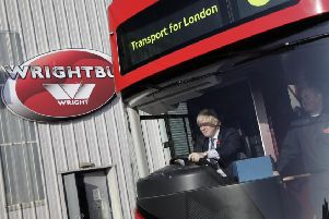 Boris Johnson above at Wrightbus in Ballymena in 2011. He has experience with transport infrastructure as Mayor of London