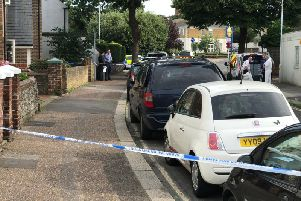 Police have sealed off Upper High Street in Worthing following the serious incident