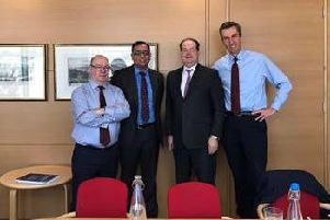 Alistair Burt MP, Mohammad Yasin MP, Stephen Hammond MP, and Andrew Selous MP attended a meeting at The Department for Health where they lobbied for the extra funding