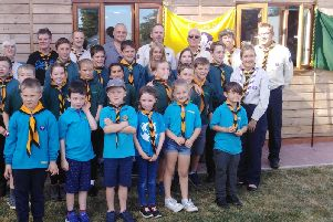 Members of the various Stewkley scouting units with scout leaders and comedian Al Murray aka the pub landlord