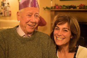 Fiona Dolman with her late father Gordon