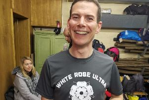 Al Flowers after completing the White Rose Ultra at the weekend.