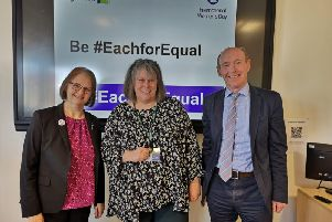 Susan Wallis, Director of Operations at Hightown, Alison Inman Former Chartered Institute of Housing President and David Bogle, Chief Executive at Hightown