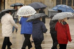 Heavy rain is forecast for the weekend