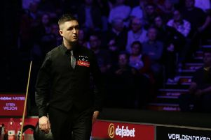 Kyren Wilson was beaten 6-2 by Judd Trump in the first round of the Dafabet Masters. Picture courtesy of World Snooker