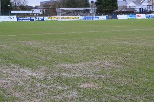 Ballymena Showgrounds following a postponement at the pitch in January. Pic by Pacemaker.