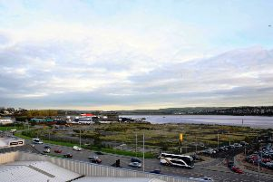 The Fort George site on Derry's riverfront was vacated by the British military in 2001.