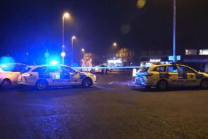 Palatine Road stabbing. Picture by Eddie Mitchell