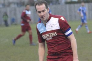 Lewis Hole gave Little Common a first half lead against Hassocks
