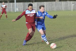 Action from Little Common's home game against Saltdean United earlier in the month. Picture by Simon Newstead