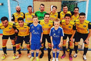 The Sussex Futsal Club squad which beat Oxford City Lions