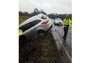 The stranded vehicle near Sadlescombe. Pic: Rother Police
