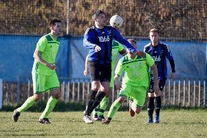 Dominic Clarke scored both of Hollington United's goals in the 2-1 win away to Buxted. Picture by Justin Lycett