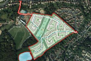 Illustrative layout plans for 160 homes in Little Common