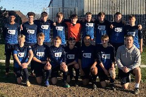The Ark William Parker Academy year 10 football team which is through to the county cup final