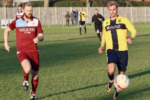 Action from November's reverse fixture between Little Common and Eastbourne Town. Picture courtesy Joe Knight