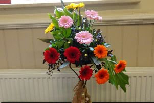 Floral Art at Ninfield Horticultural Society Spring Show 2019 SUS-190326-093246001
