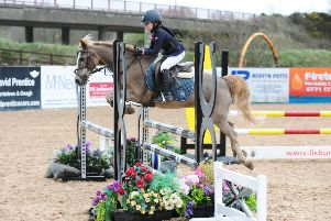 Sarah McLaughlin riding Super Sonic, winners of the 85cm U10's Balmoral qualifier