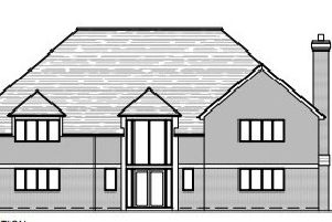 Front elevation of the proposed new home