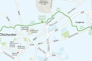 A map of where the pipe will run, provided by Southern Water