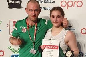 Huma Caglayan and her coach Ben Pettet