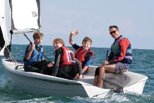 Enjoying a previous Hastings and St Leonards Sailing Club's Push The Boat Out event SUS-190430-143354001