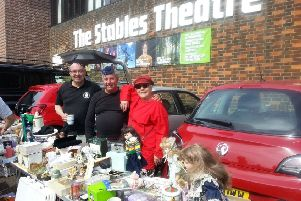 Organiser of the Stables Theatre Car Boot Sale, Annie Edwards and volunteers SUS-170305-161656001