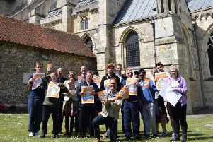The Our City scheme was launched at Chichester Cathedral yesterday. 'Photo: West Sussex County Council