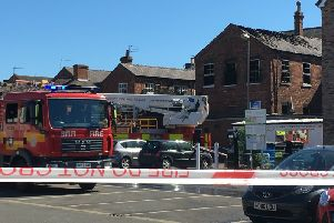 The scene at Union Street, in Market Rasen, after a fire broke out in the early hours of this morning (Friday). EMN-190524-145927001