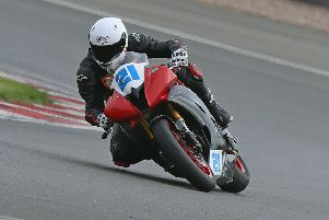 Motorcycle ace Nick Whitcher. Picture courtesy Hilary