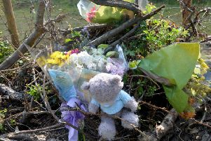 Floral tributes were left after Marc Barry's death