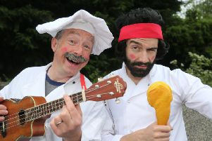 THe singing Chefs at the Bushmills Salmon and Whiskey Festival in the town at the weekend to celebrate the region's local heritage, culture and produce.PICTURE KEVIN MCAULEY/MCAULEY MULTIMEDIA