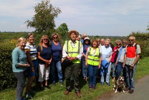 Twenty walkers joined the inaugural Ninfield health walk in May