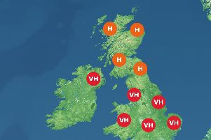 Pollen warning from the Met Office