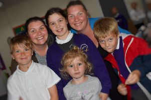 Mums and their children who have all attended Sherard Primary School enjoy the school's 50th birthday party EMN-190628-092826001
