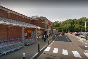 A 40-year-old man died outside Sainsbury's supermarket, in John Macadam Way, St Leonards. Picture: Google