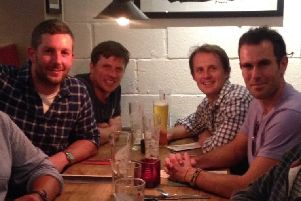 The four men met up for a meal and celebratory drink ten years after their remarkable achievement