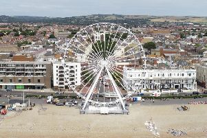 Photographer Eddie Mitchell used his drone to capture these shots of Worthing's latest tourist attraction.