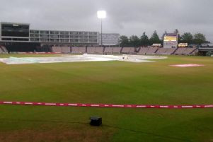 It's a sorry, soggy scene at the Ageas Bowl