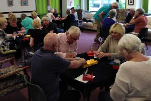 Buckingham Bridge Club members at one of their weekly sessions