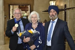 Medal recipiants and guests at the Peterborough Inter-Faith Council annual meeting at the Town Hall. EMN-190721-204903009