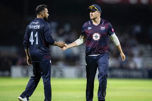 Josh Cobb saw his Steelbacks side fail to defend their 180 for five (picture: Kirsty Edmonds)